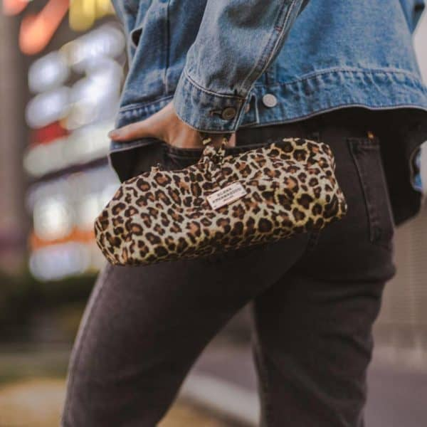 Click to enlarge Large Suede Animal Print Natural