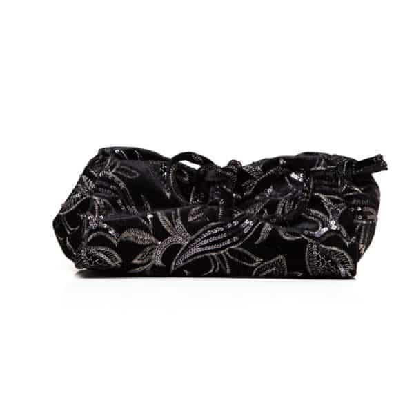 Large Sequin Black lunchbag