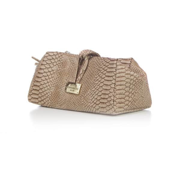 LARGE CROCO BEIGE