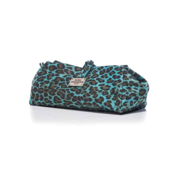 LARGE SUEDE ANIMAL PRINT BLUE