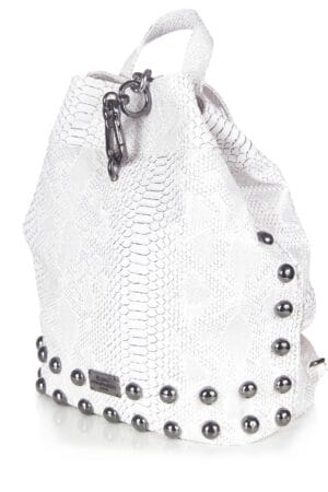 BACKPACK CROCO PATTERN WHITE