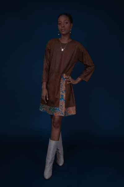 DORIAN MINI DRESS BROWN