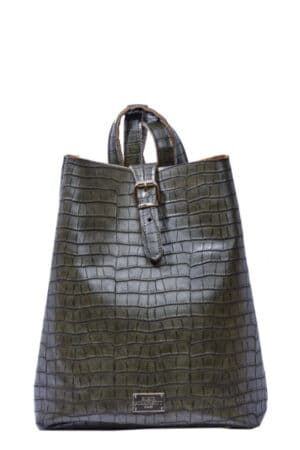 Backpack Croco Pattern Khaki