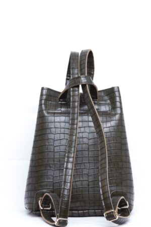 Backpack Croco Pattern Khaki