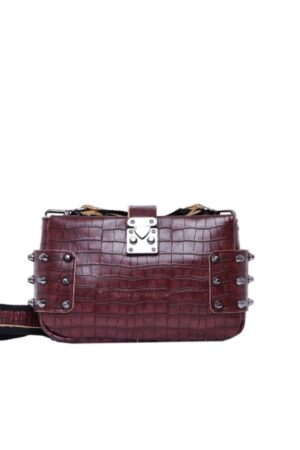 City Lady Clutch Croco Burgundy