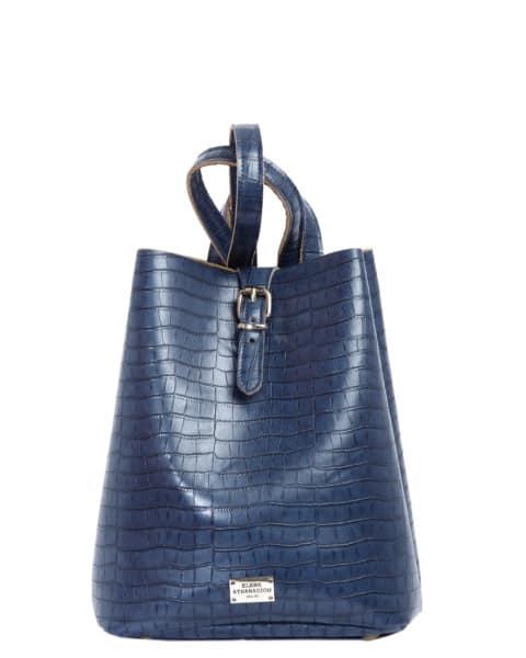 Backpack Croco Pattern Blue