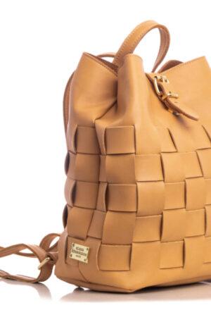 Straw Backpack Caramela