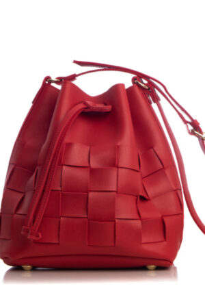 Straw Pouch Bag Red