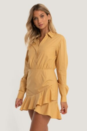 SHIRT FLOUNCE DRESS