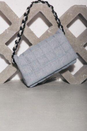 Linen Pillow Bag Baby Blue