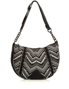 Indie Chain Moon Bag Elephant Grey